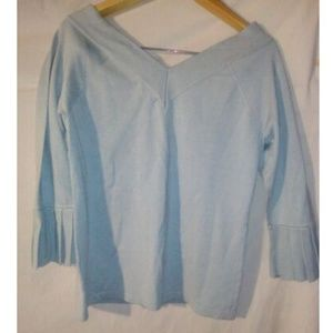 525 America Sweaters - V Neck Small Light Baby Blue Pullover Sweater